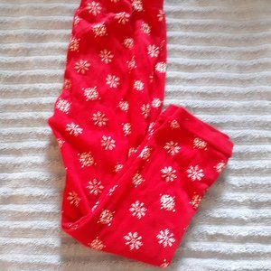 Carter's Just One You Red Snowflake Joggers